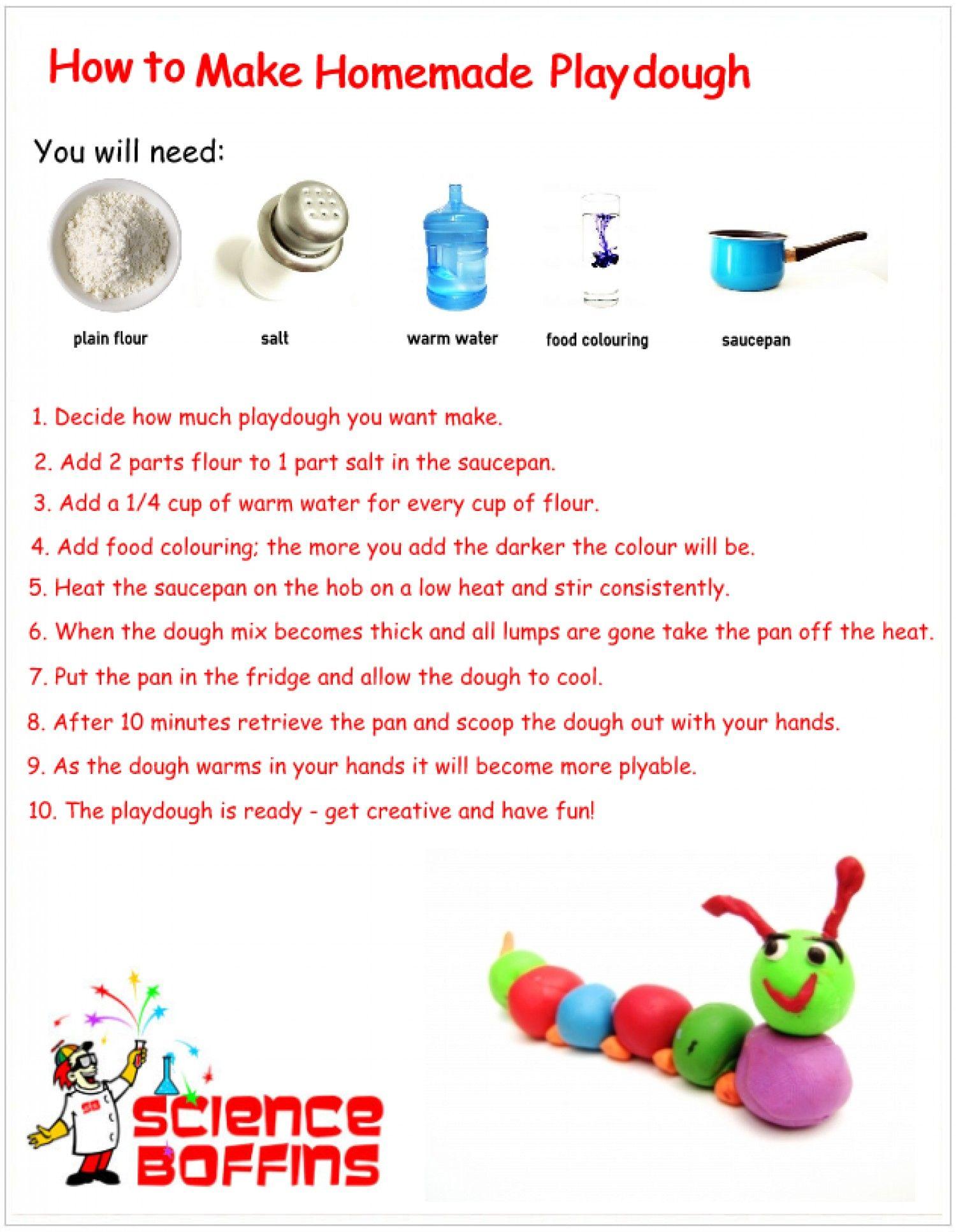 How To Make Playdough Visual Ly Homemade Playdough Craft Activities For Kids Playdough