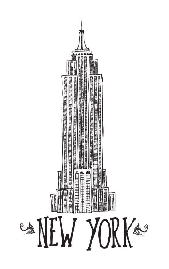 New York Art Print New York City Poster Black White New York