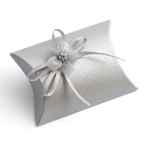 10 Small Silver Pelle Gift Bo Wedding Favor Por Pulpandtwine