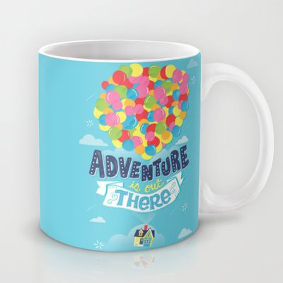 Adventure is out there Mug by Risa Rodil - $15.00 #disneycoffeemugs