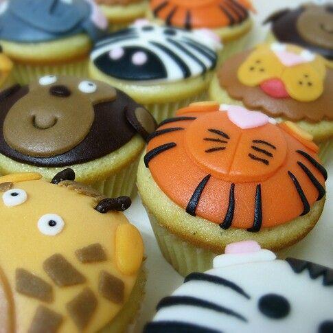 Cupcakes de animales - Me tienes tarta!