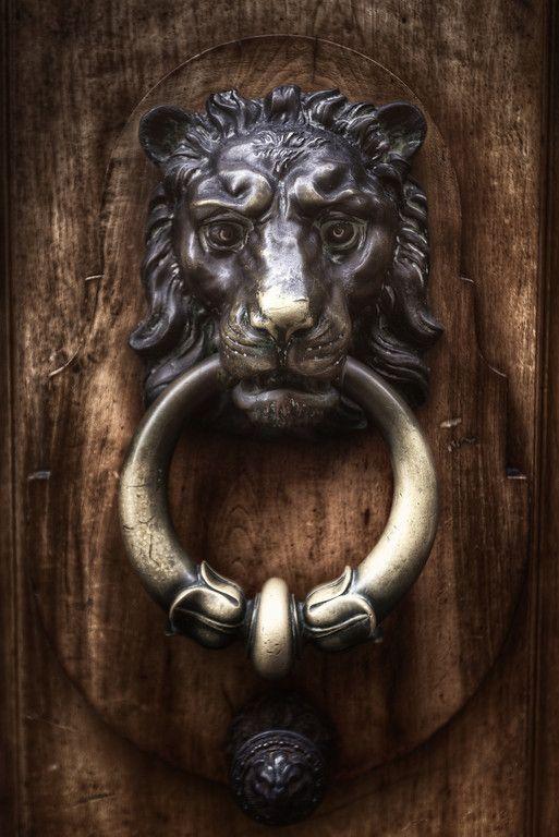 Old Lion door knocker & Old Lion door knocker | Door Hardware | Pinterest | Lion door ...