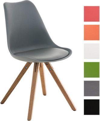 Design Retro Stuhl PEGLEG, Schalenstuhl Sitzhöhe 46 cm, gepolstert ...