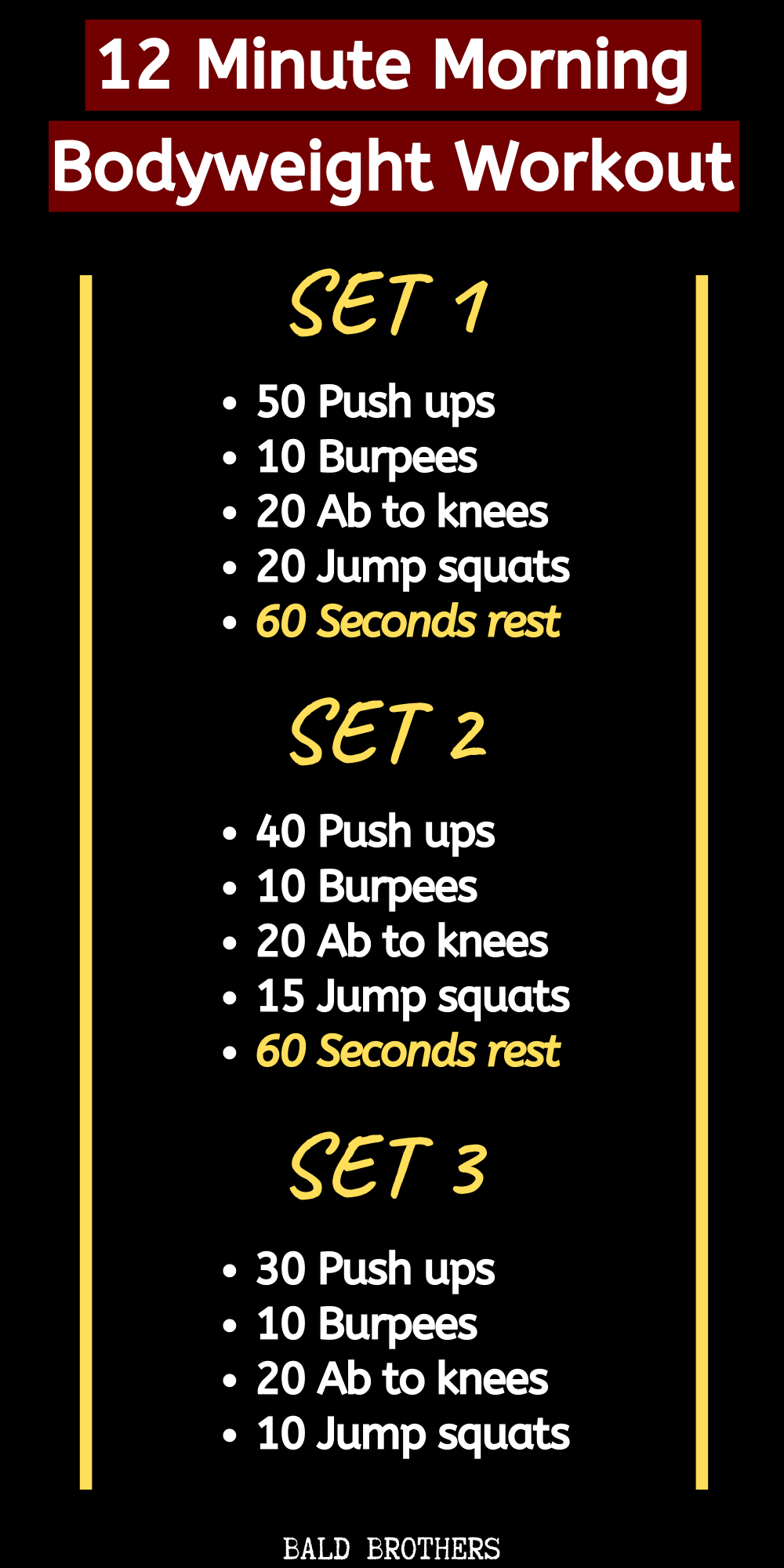 12 Minute Morning Blast Bodyweight Workout To Kick Start Your Day!