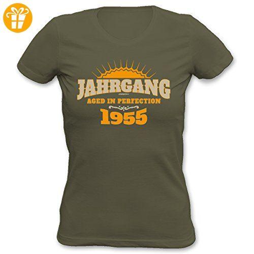 Cooles Damen T-Shirt zum 62. Geburtstag Jahrgang 1955 Geschenk zum 62.  Geburtstag