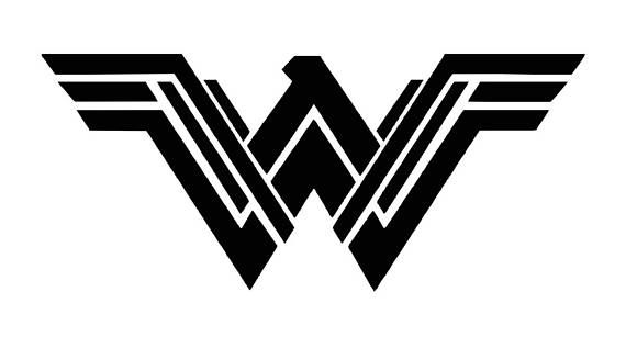 Wonder Woman new logo vinyl car decal, Superhero window ...