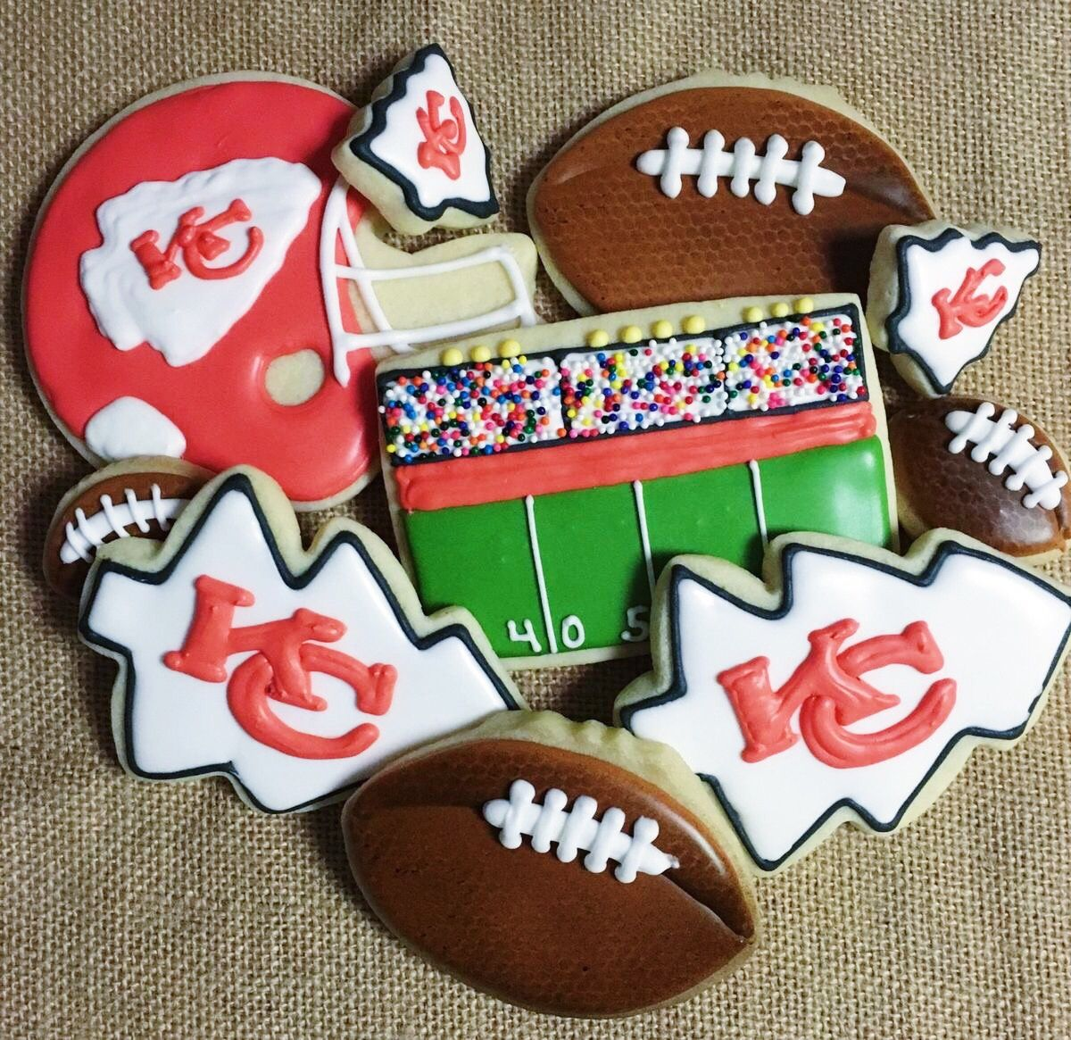 Go chiefs football cookies super bowl cookies