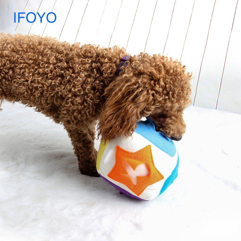 Ifoyo Dog Treat Toy Dog Plush Toy Pet Feeder Toy Square Dog Toy