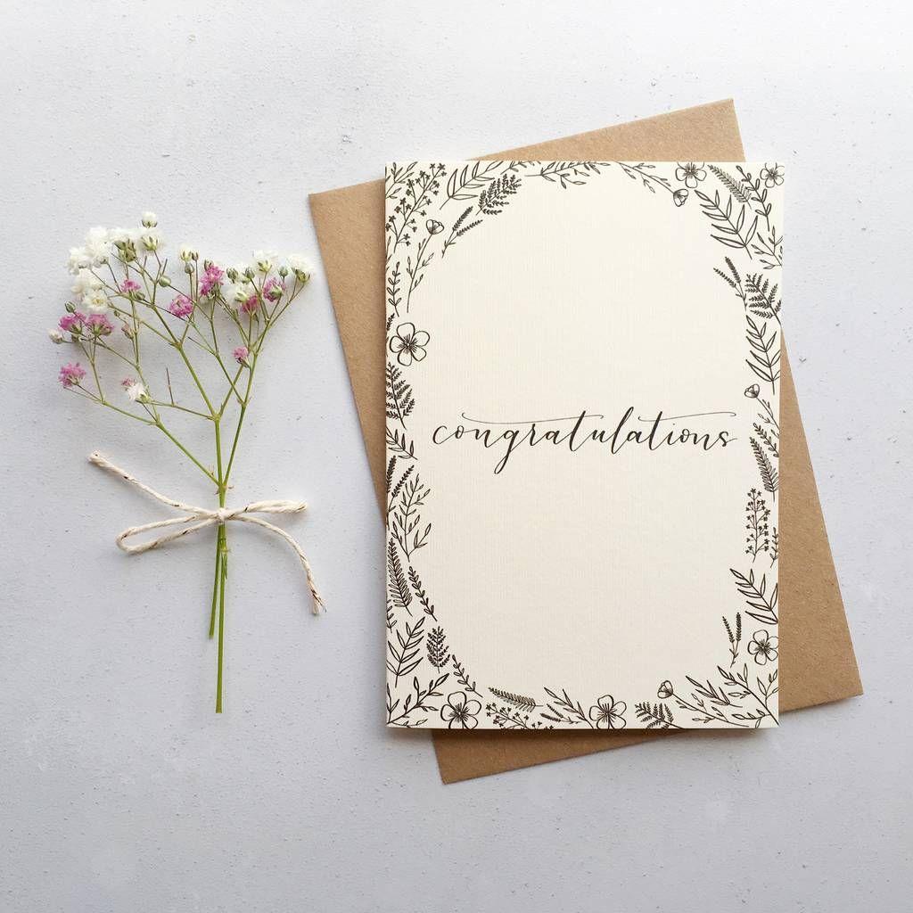 diy wedding cards congratulations