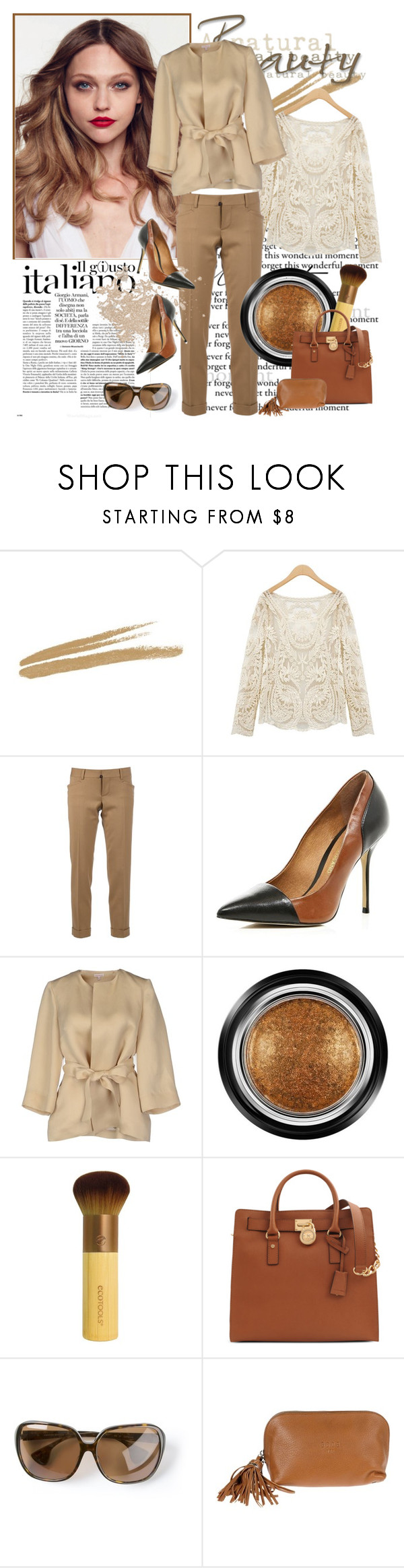 """Untitled #2126"" by ladydelicat ❤ liked on Polyvore featuring NARS Cosmetics, Dsquared2, River Island, P.A.R.O.S.H., Giorgio Armani, Michael Kors, Chrome Hearts and Golden Goose"