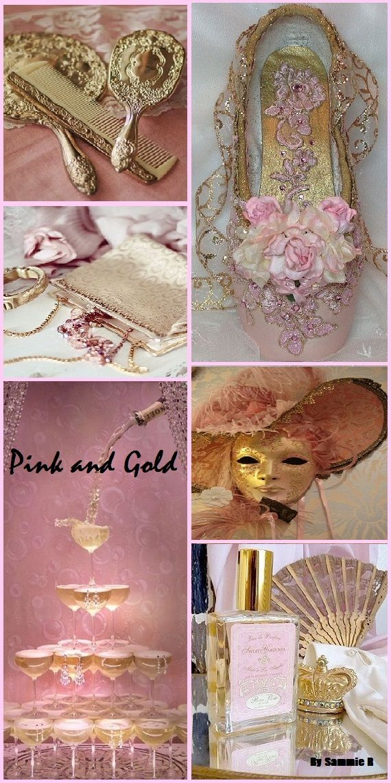 Pink And Gold By Sammie R Color Collage Pink And Gold Mood Colors