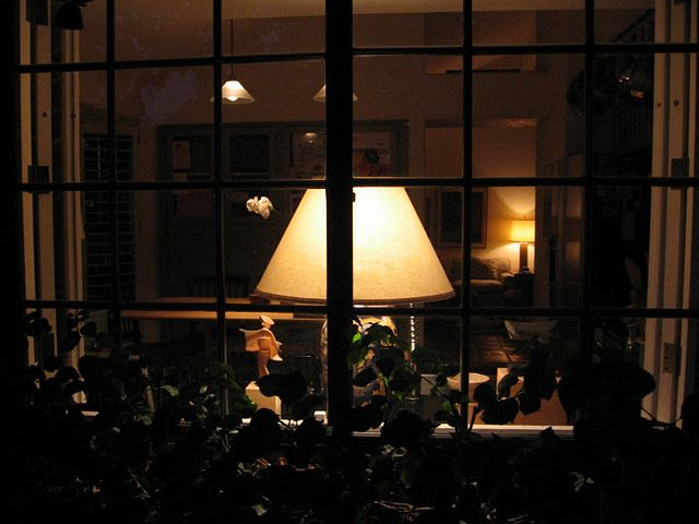 Home Sweet Home, Lamp At Night, Paned Windows