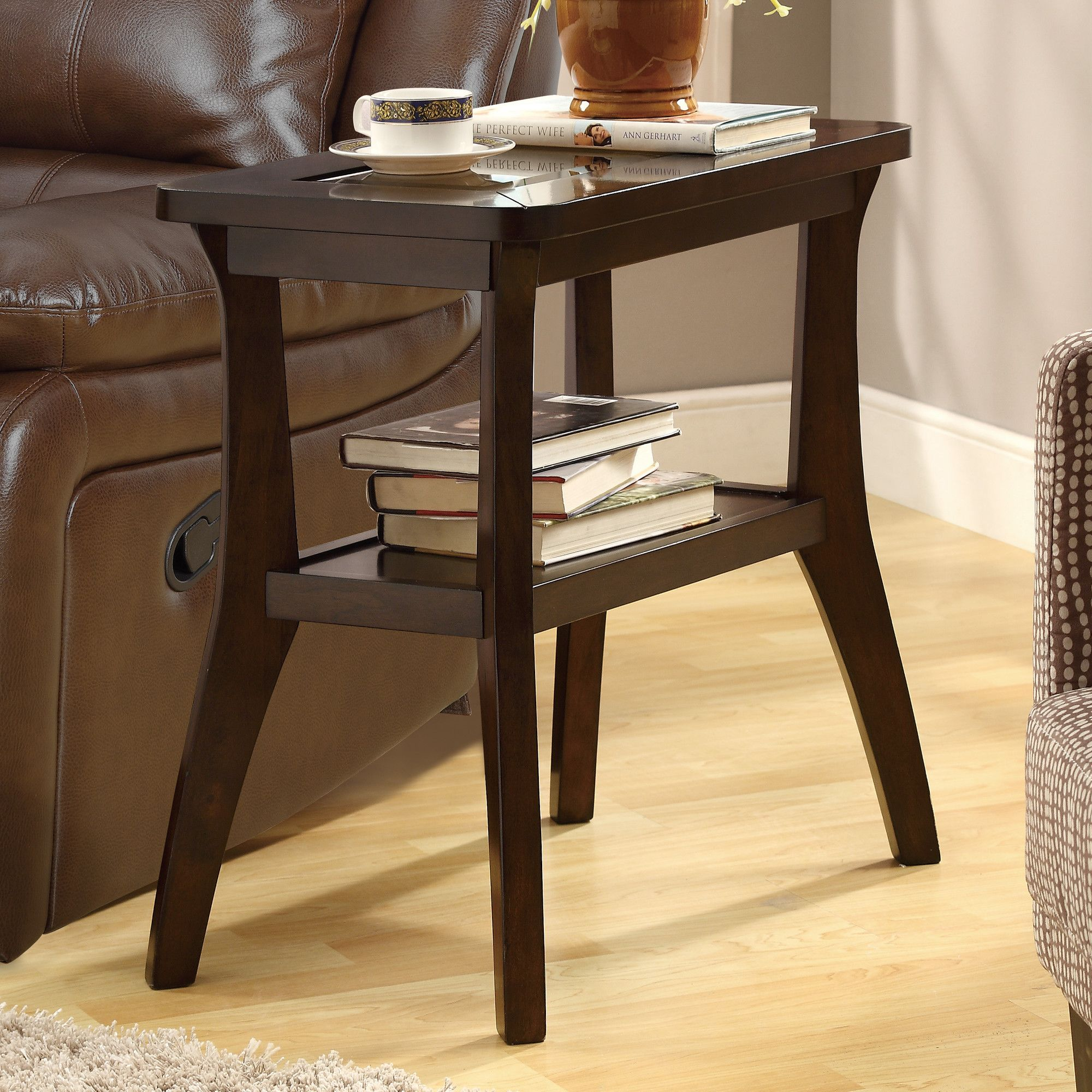 Monarch Specialties Accent Side Table In Dark Walnut 24