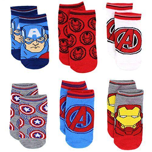 Marvel Boys 8 Pack Superhero Character Socks