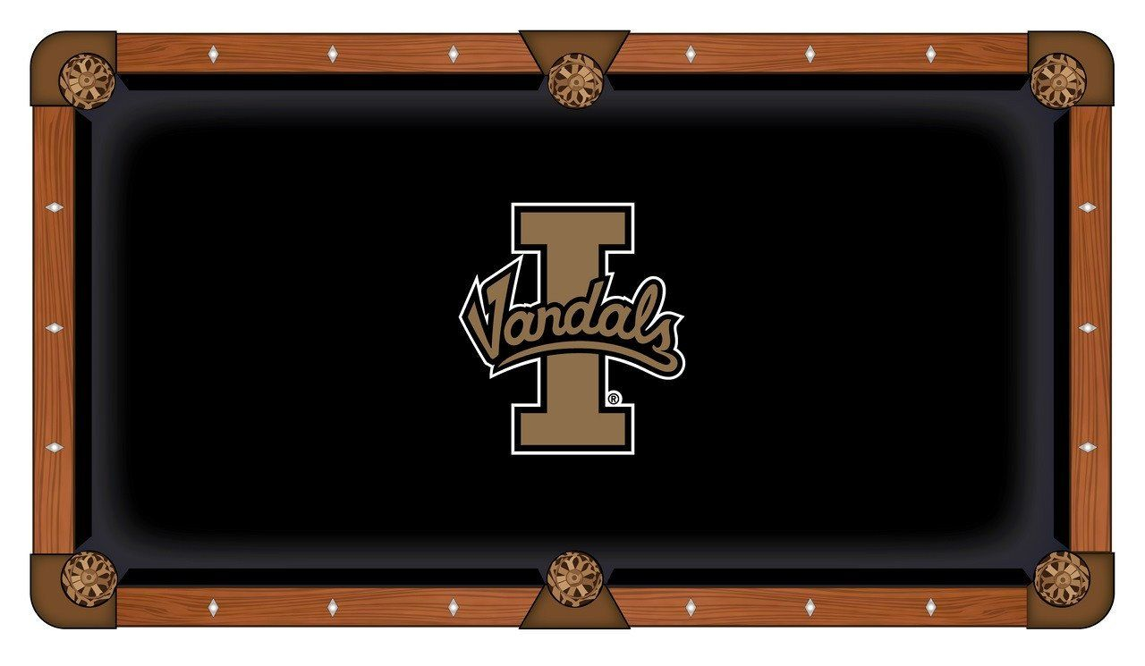 idaho vandals hbs black with tan logo billiard pool table cloth rh pinterest ch