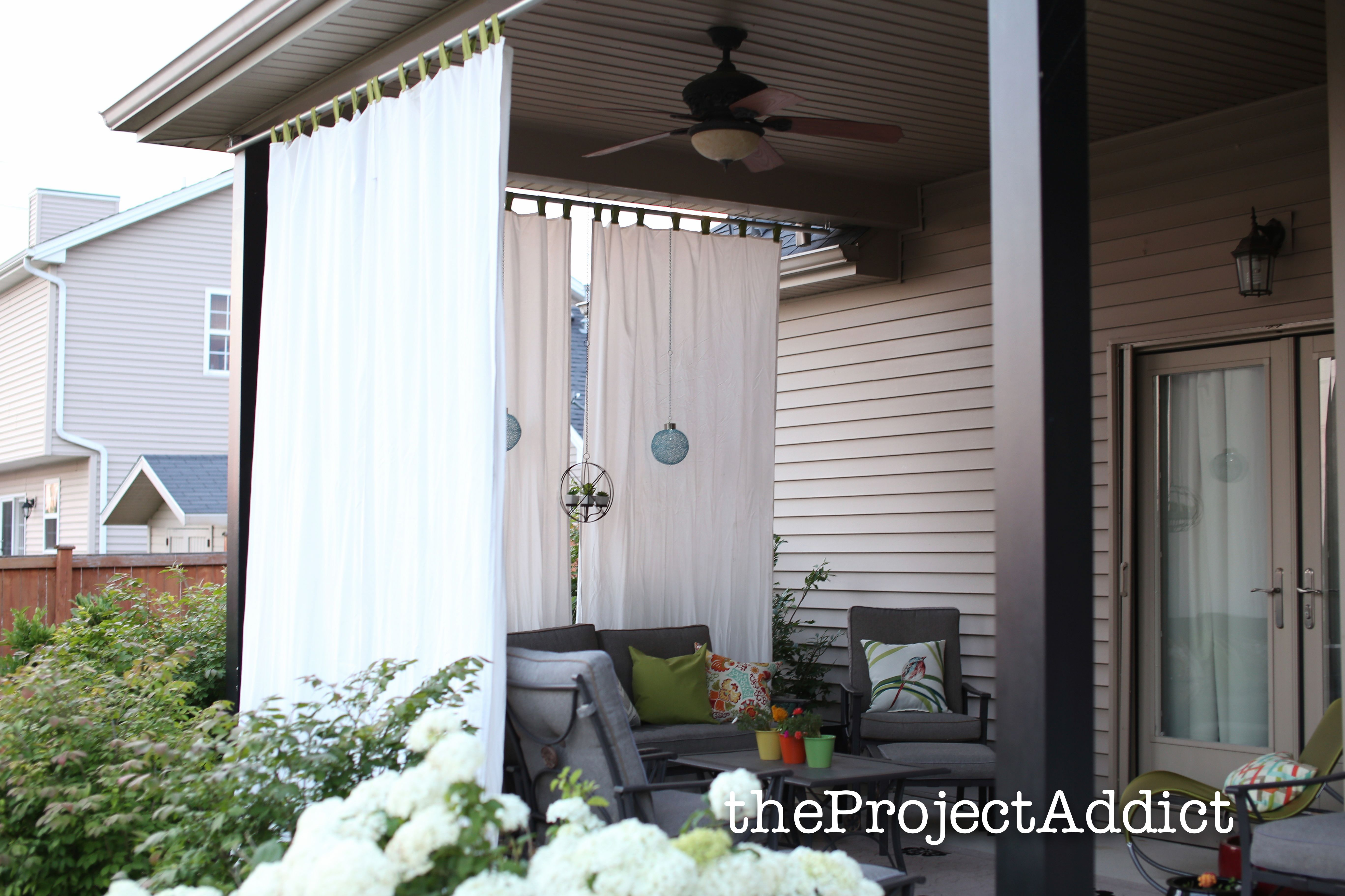 Diy Outdoor Curtains 1 Of 16 Jpg 5472 3648 Outdoor Curtains Outdoor Privacy Privacy Screen Outdoor