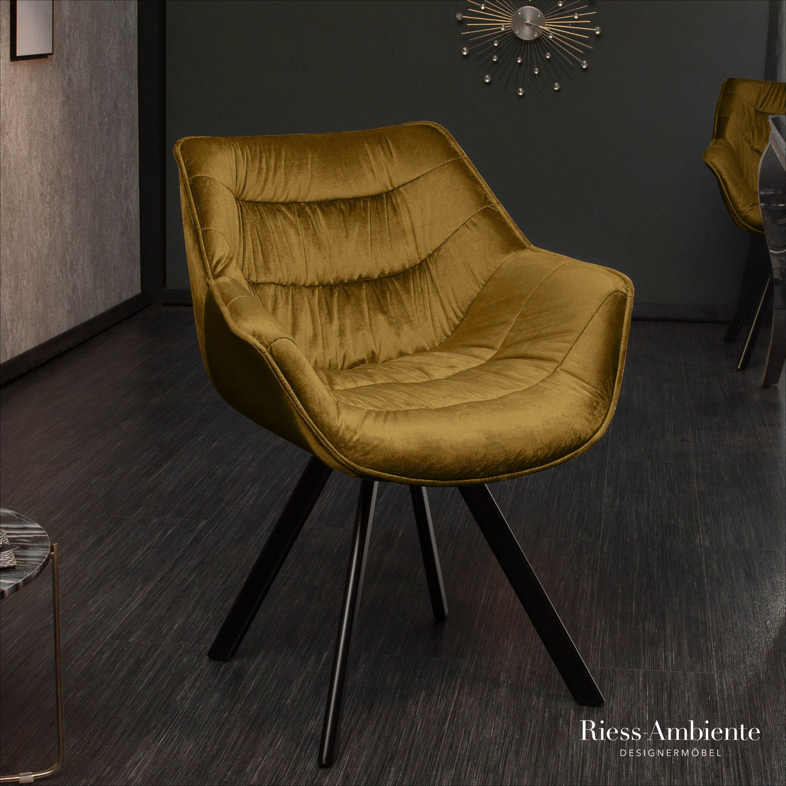 48+ Samt stuhl schwarz gold ideen