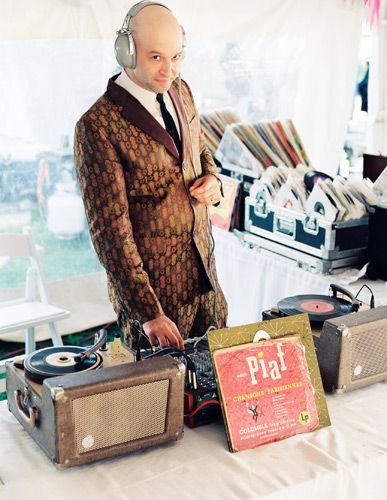 Brooklyn's DJ Jonathan Jacobs spun pre-disco vinyl on vintage record players for the reception.