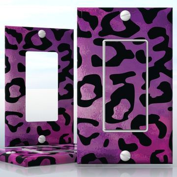 Diy 1 Gang Decora Lightswitch Decal Skin Wrap Sticker Light Switch Decora Rainbow Leopard