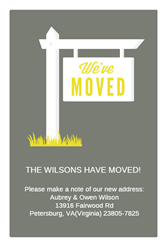 Our New Address Free Printable Moving Announcement Template Greetings Island Moving Announcements New Address Announcement Change Of Address Cards