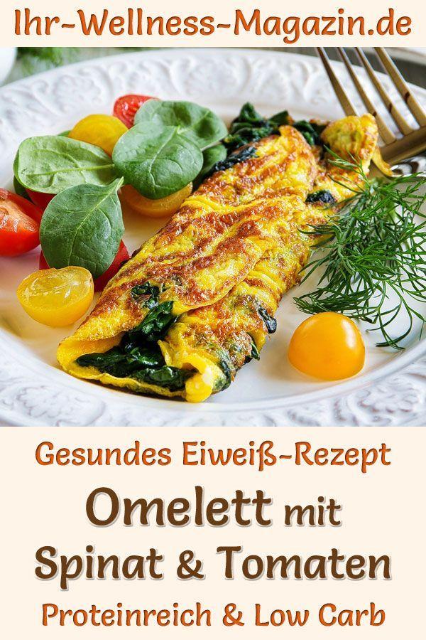 Photo of Omelett mit Spinat und Tomaten – eiweißreiches Low-Carb-Rezept
