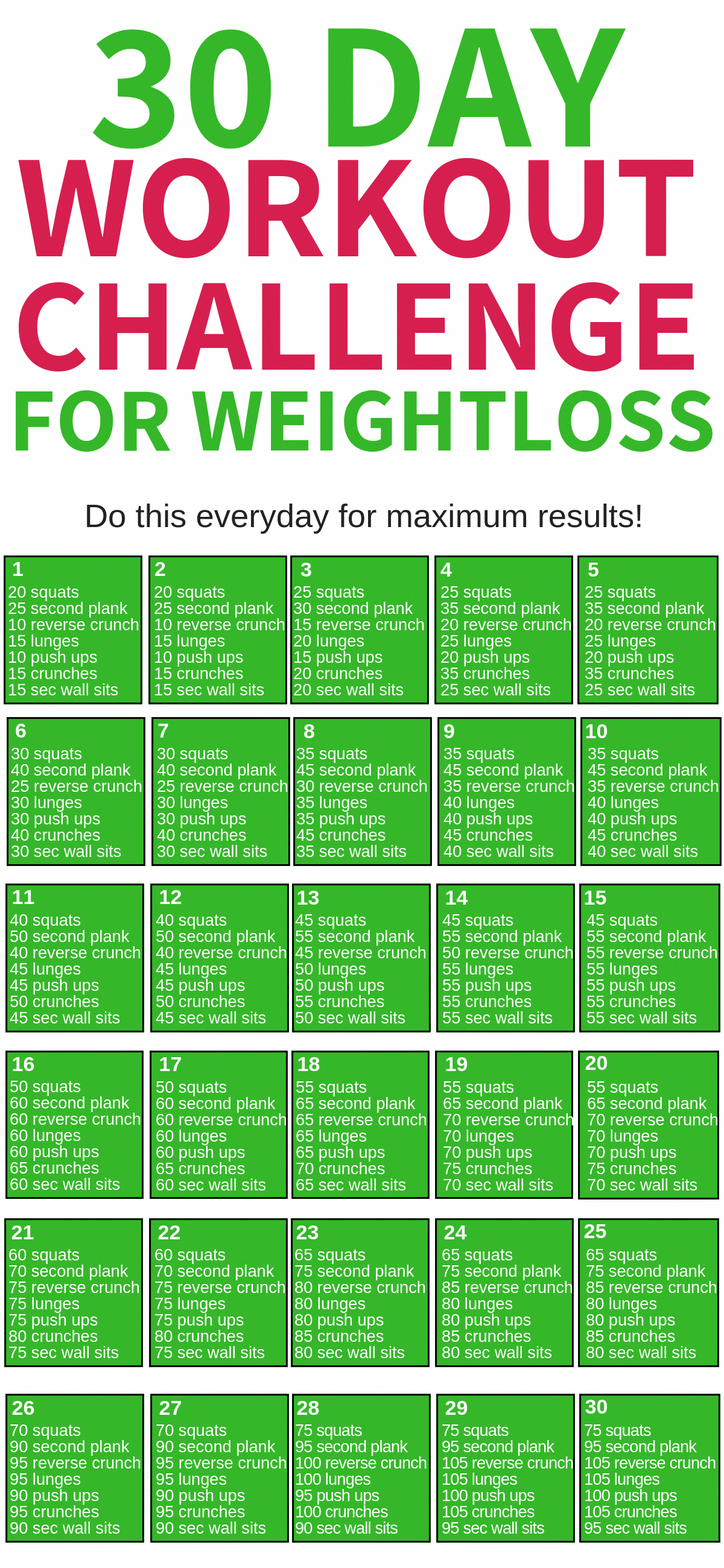 This 30 day workout challenge for beginners for weight loss is THE BEST! I'm so glad I found this aw...