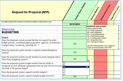 Request For Proposal Rfp Templates Software Requirements  Rfp