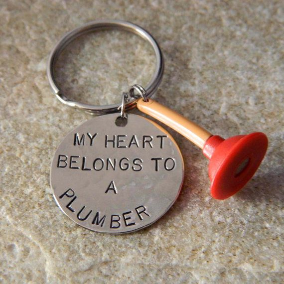My Heart Belongs To A Plumber Keychain By Wirenwhimsy On Etsy 30 00 Plumbing Quote Plumbing Humor Plumber
