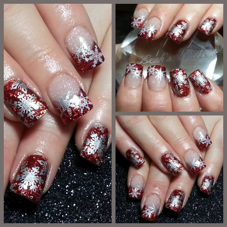 Ruby Red Christmas nails | Beauty i ❤ | Pinterest | Red christmas ...