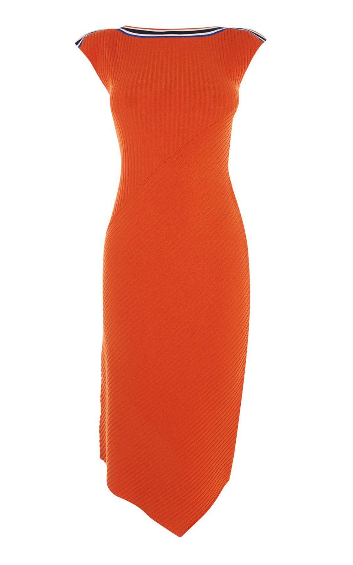 80941eceb70 Асимметричное трикотажное платье Karen Millen