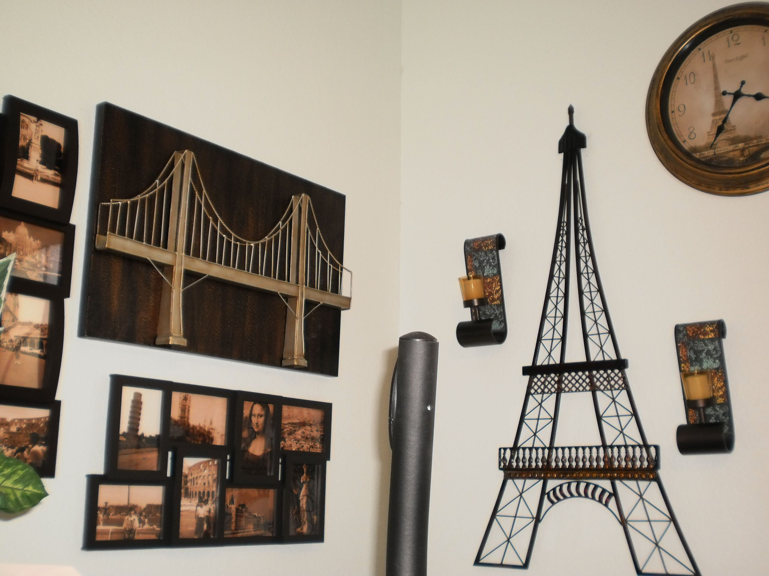 I Love The Bridge And Tower Are Brilliant Love Maybe Hallway Or Living Room Although It Is Getting Crowded Paris Living Rooms Paris Rooms Travel Decor Diy Travel living room decor