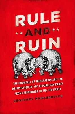 Rule and Ruin: The Downfall of Moderation and the Destruction of the Republican Party, from Eisenhower to the Tea Party by Geoffrey Kabaservice. Middletown New Books | JK2356 .K33 2012 \  Hamilton Library | JK2356 .K33 2012. http://www.lib.muohio.edu/multifacet/record/mu3ugb4246331
