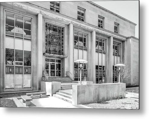 College of Wooster Andrews Library Metal Print by www.universityicons.com B&W prints, metal prints, acrylic prints and stretched canvas prints.