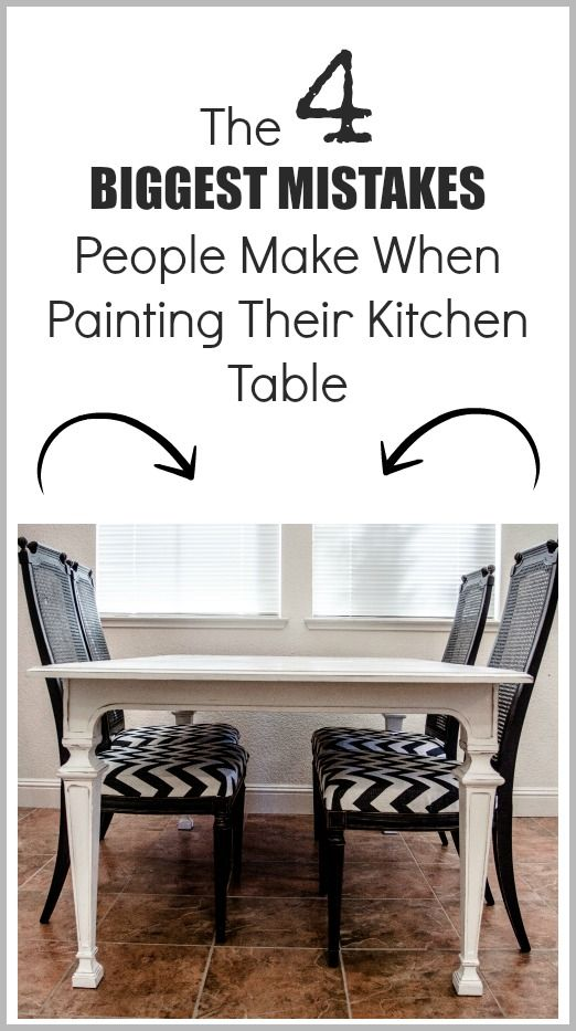7 common mistakes made painting kitchen tables inspiring ideas rh pinterest es