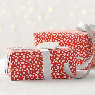Snowball Gift Wrap | The Little White Company #WhiteChristmasWishlist