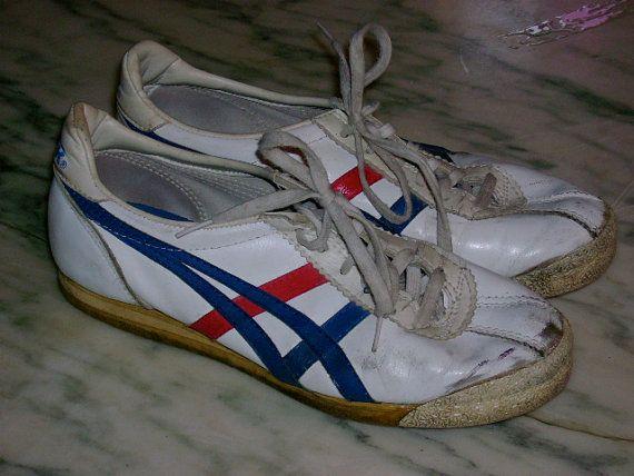 pretty nice c3fca ab705 vintage 1980's asics tiger tennis shoes RAD sneakers | back ...