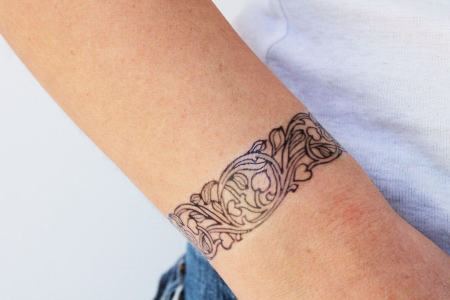 Image Result For Cuff Tattoos For Women: Image Result For Art Nouveau Arm Band Tattoo