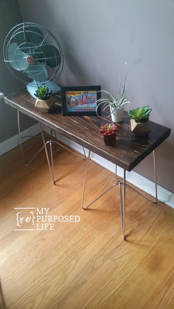 metal table legs make diy wooden tables and plant stands do it rh pinterest com