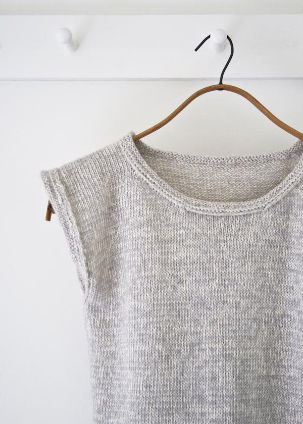 Up the back, over the top and down the front… That's how I knit my very first garment. I've since graduated to more complicated designs, but the over-the-top construction will forever be in my knittin