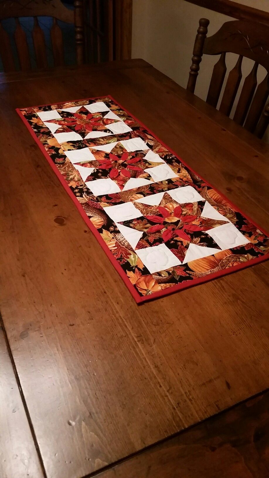 our amish quilted fall table runner from riehls amish quilt shop rh pinterest com