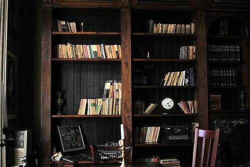 Love The Dark Wood Floor To Ceiling Bookshelves Interior Architecture My Dream Home