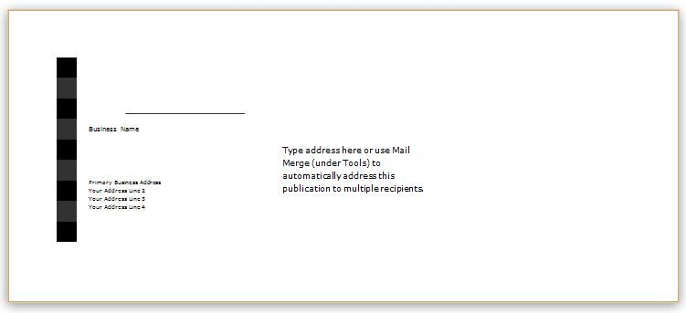 Envelope Template Design For Ms Word Download At HttpWww