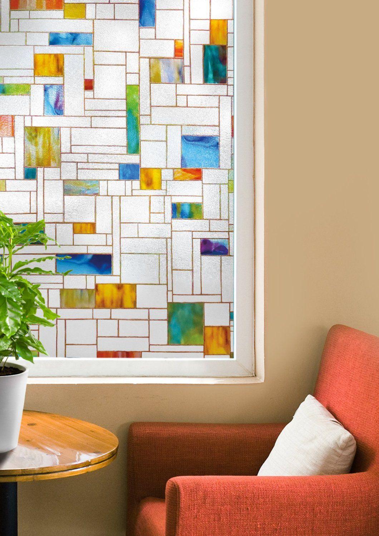 Window dressing ideas for arched windows  melange window film  x inch  joysavor  art  pinterest