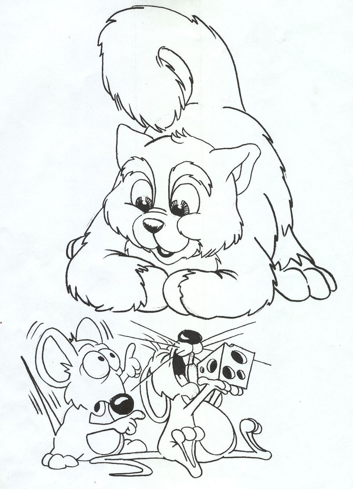 Cat Mice Coloring Pages | Embroidery | Pinterest | Malen