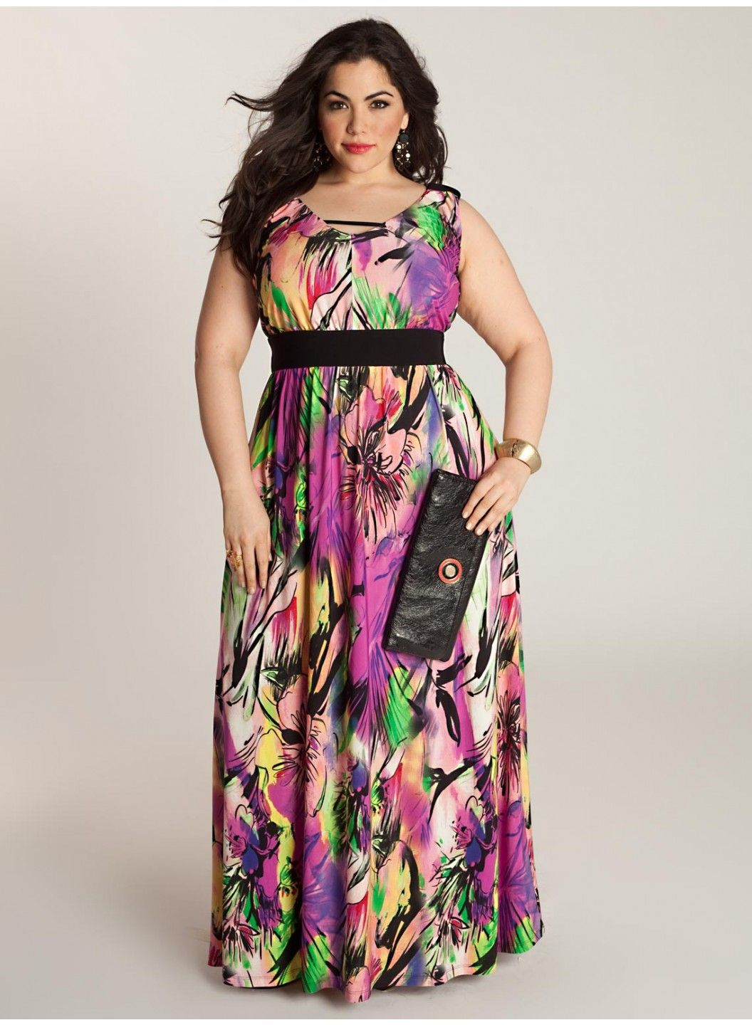 Maxi summer dresses for plus size