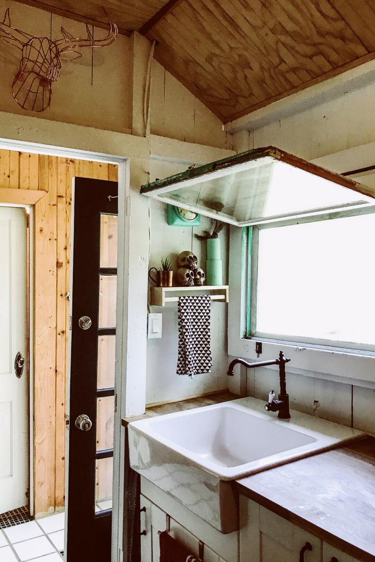 Rustic kitchen window decor  jul  lake house decor ideas  great blogger ideas  pinterest