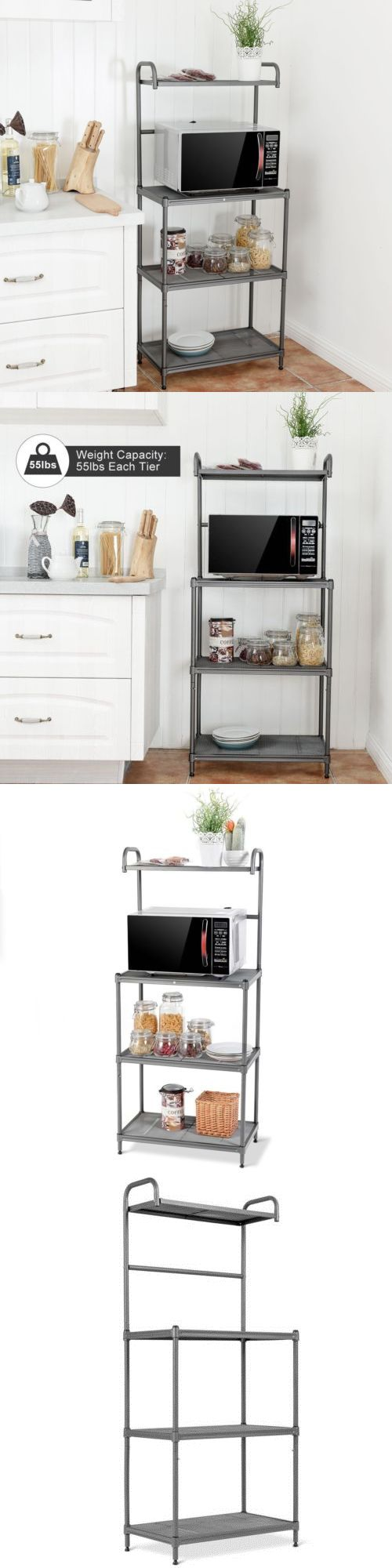 bakers racks 20482 4 tier baker s rack microwave stand shelves rh pinterest com