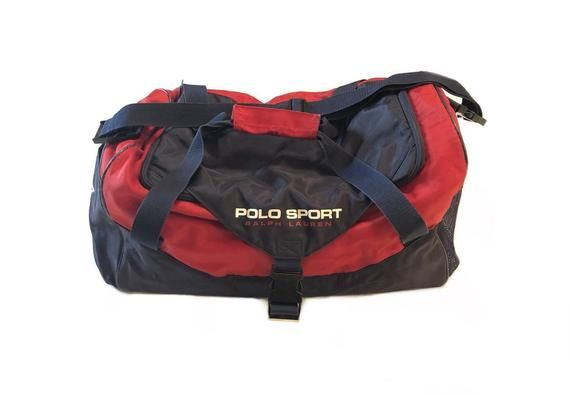 85b23c2f259 Polo Sport Bag VTG 90s USA Track and Field Duffel Vintage Sports Carry On One  Size