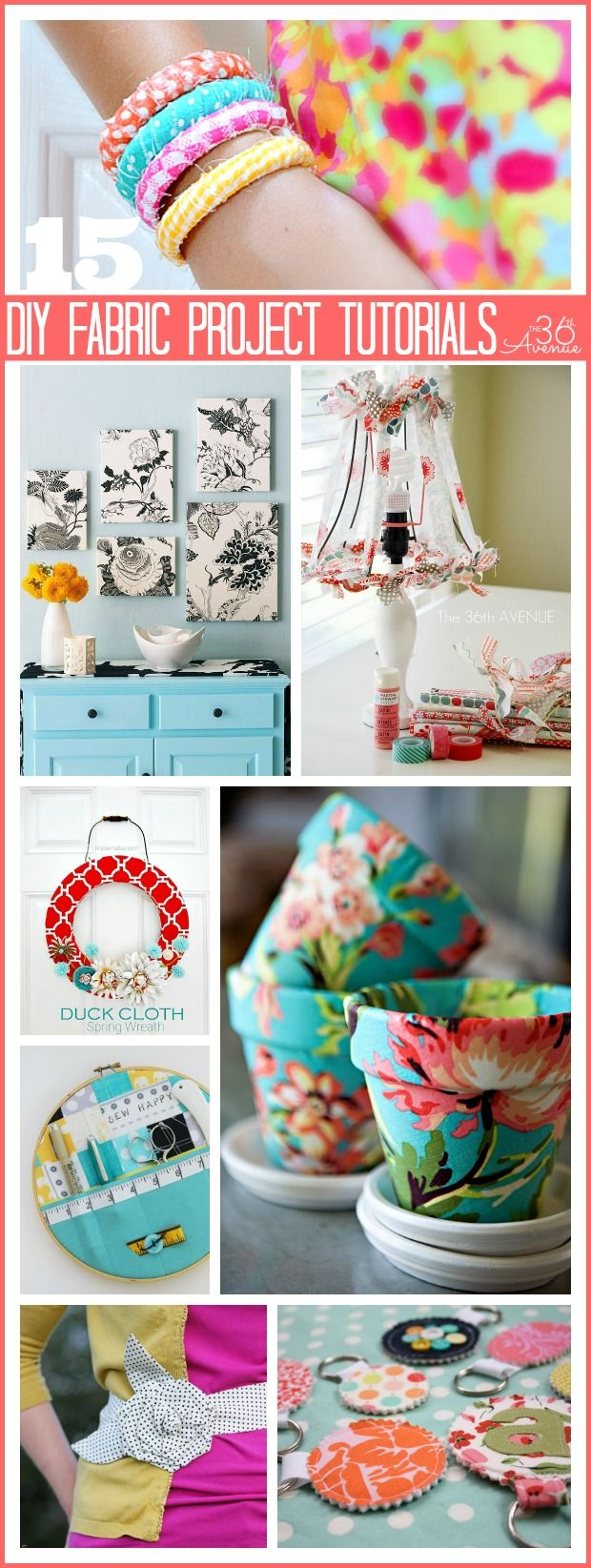 15 DIY Fabric Project Tutorials- use up your scraps on one of these fun projects.