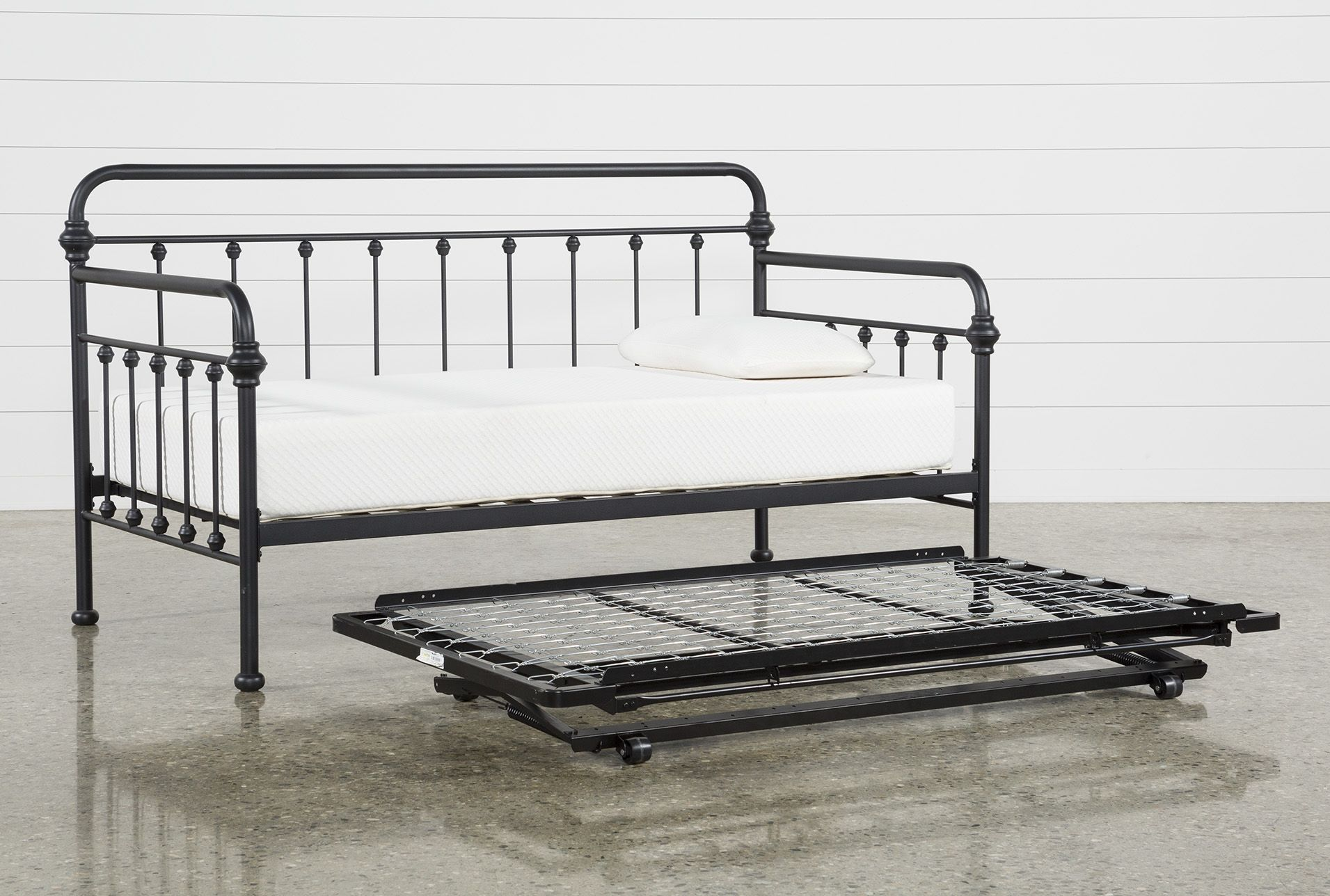 Knox Metal Daybed With Revive Pop Up Trundle Pop Up Trundle